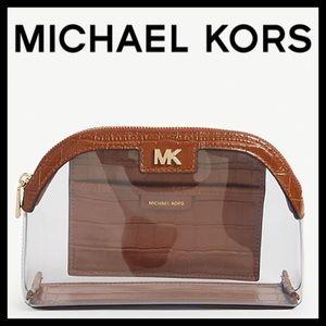 Michael Kors Large PVC & Leather  Travel Pouch